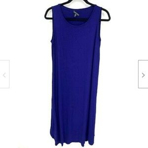 Eileen Fisher Royal Blue Sleeveless Maxi Dress